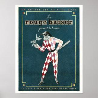 Vintage Le Rouge Baiser Ad Poster