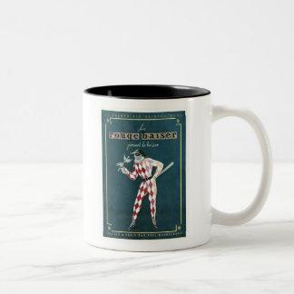 Vintage Le Rouge Baiser Ad Two-Tone Coffee Mug