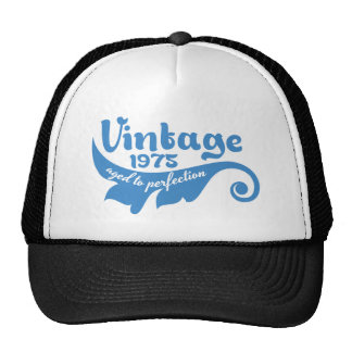 Vintage LEAF aged to perfection 1975 blue tshirt Trucker Hat