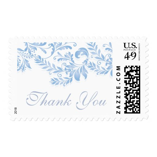Vintage Leaf Damask Bridal Shower Postage Stamp