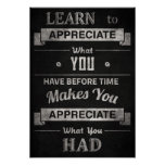 """Vintage """"Learn to Appreciate"""" Poster"""