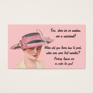 Vintage Learn To Park Business Card