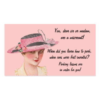 Vintage Learn To Park Double-Sided Standard Business Cards (Pack Of 100)