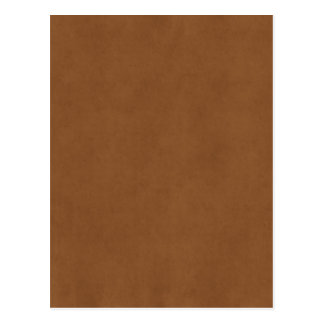 Vintage Leather Brown Antique Paper Template Blank Postcard