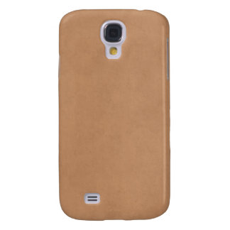 Vintage Leather Brown Antique Paper Template Blank Samsung S4 Case