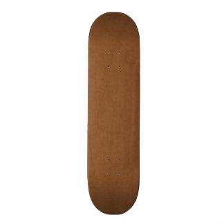 Vintage Leather Brown Antique Paper Template Blank Skateboard Deck