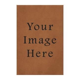 Vintage Leather Brown Parchment Paper Background Canvas Print