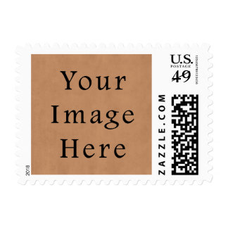 Vintage Leather Brown Parchment Paper Background Postage Stamps