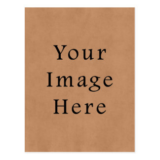 Vintage Leather Brown Parchment Paper Background Postcard