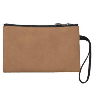 Vintage Leather Brown Parchment Paper Template Wristlet Purses