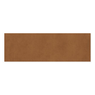 Vintage Leather Brown Parchment Paper Template Double-Sided Mini Business Cards (Pack Of 20)