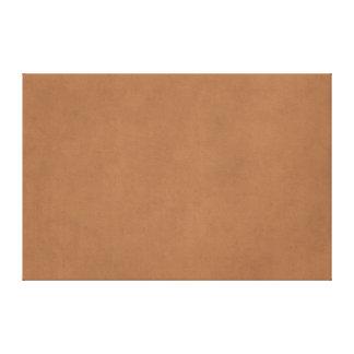 Vintage Leather Brown Parchment Paper Template Canvas Print