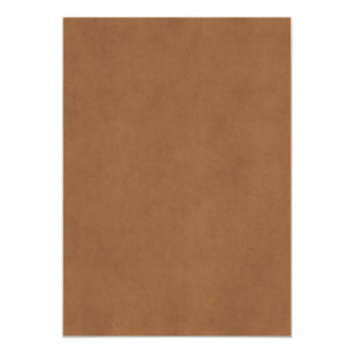 Vintage Leather Brown Parchment Paper Template Card