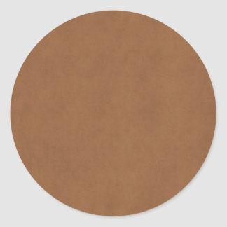 Vintage Leather Brown Parchment Paper Template Classic Round Sticker