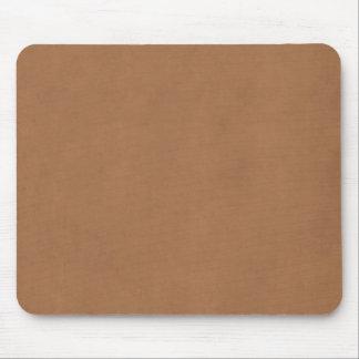 Vintage Leather Brown Parchment Paper Template Mouse Pad
