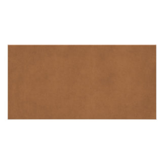 Vintage Leather Brown Parchment Paper Template Photo Card