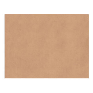 Vintage Leather Brown Parchment Paper Template Postcard