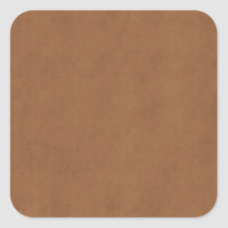 Vintage Leather Brown Parchment Paper Template Square Sticker