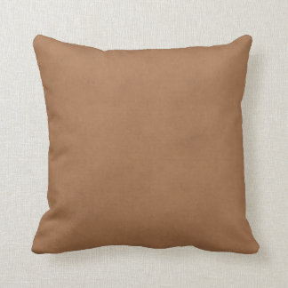 Vintage Leather Brown Parchment Paper Template Throw Pillow