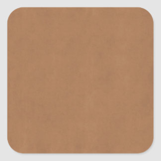 Vintage Leather Brown Parchment Template Blank Square Stickers