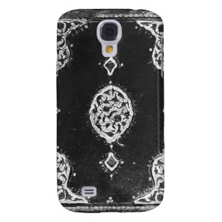 Vintage leather embellished book cover galaxy s4 cover