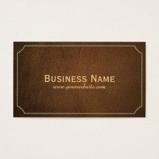 Vintage Leather Investigator Business Card
