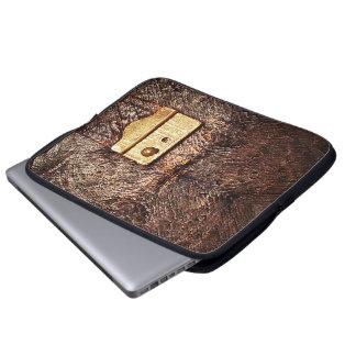 Vintage leather laptop computer sleeves
