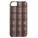 Vintage Leather Library Books Effect Iphone 5 Case at Zazzle
