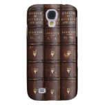 Vintage Leather Library Books Galaxy S4 Case at Zazzle