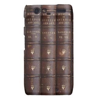 Vintage Leather Library Books Motorola RAZR Case Motorola Droid RAZR Cases