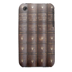 Vintage Leather Library Books on iPhone 3 Casemate iPhone 3 Case at Zazzle