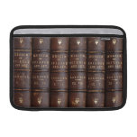 "Vintage Leather Library Effect Macbook Air 11"" Macbook Sleeve at Zazzle"