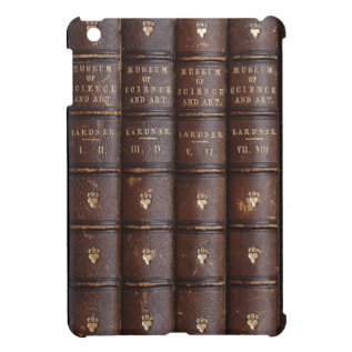 Vintage Leather Library Effect Mini Ipad Case at Zazzle