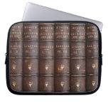 "Vintage Leather Library Effect Neoprene Sleeve 10"" at Zazzle"