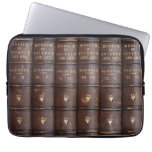 "Vintage Leather Library Effect Neoprene Sleeve 13"" at Zazzle"