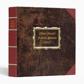 Vintage Leather-look Custom Photo Album Genealogy 3 Ring Binder