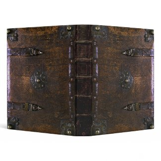 Vintage Leather Look Gothic Binder binder
