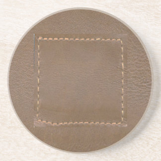 Vintage LEATHER Look Print Finish : Template Drink Coaster