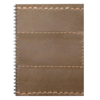 Vintage LEATHER Look Print Finish : Template Spiral Notebook