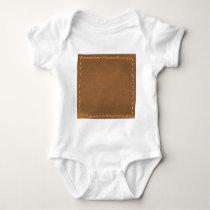 Vintage Leather Look - Write on ImageBox TextBox Baby Bodysuit