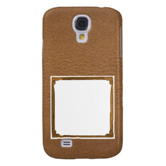 Vintage Leather Look - Write on ImageBox TextBox Samsung Galaxy S4 Cover