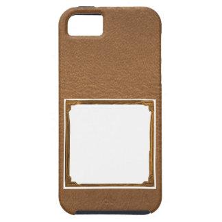 Vintage Leather Look - Write on ImageBox TextBox iPhone SE/5/5s Case