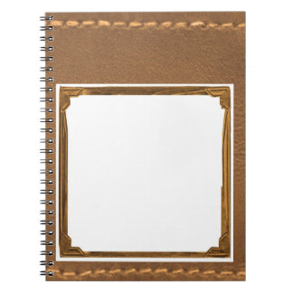 Vintage Leather Look - Write on ImageBox TextBox Notebooks