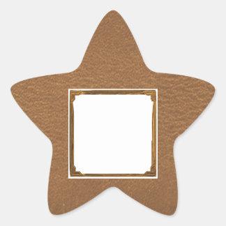 Vintage Leather Look - Write on ImageBox TextBox Star Sticker