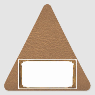 Vintage Leather Look - Write on ImageBox TextBox Triangle Sticker