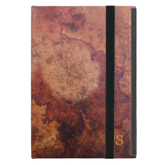 Vintage Leather Monogram Cover For iPad Mini