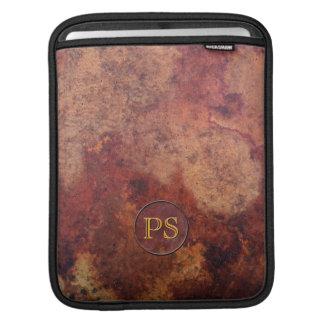 Vintage Leather Professional Monogram iPad Sleeve