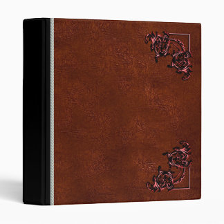 Vintage leather red brown Leather binder