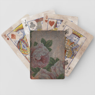 Vintage Leather Roses Bicycle® Playing Cards