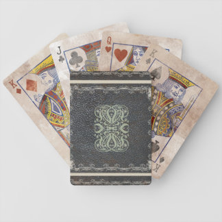 Vintage Leather Scroll Design Bicycle® Playing Car Bicycle Playing Cards